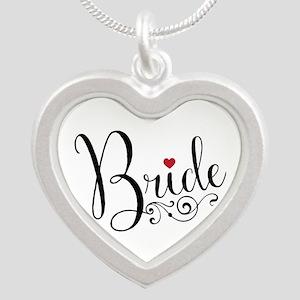 Elegant Bride Silver Heart Necklace