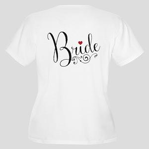 Elegant Bride Women's Plus Size V-Neck T-Shirt