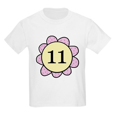 Eleven purple/yellow flower Kids Light T-Shirt
