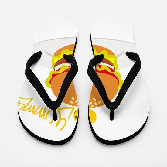 Hamburger Flip Flops