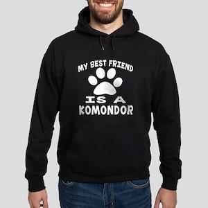 Komondor Is My Best Friend Hoodie (dark)