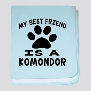 Komondor Is My Best Friend baby blanket