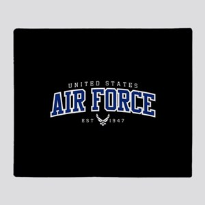 United States Air Force Athletic Throw Blanket