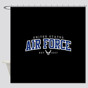 United States Air Force Athletic Shower Curtain