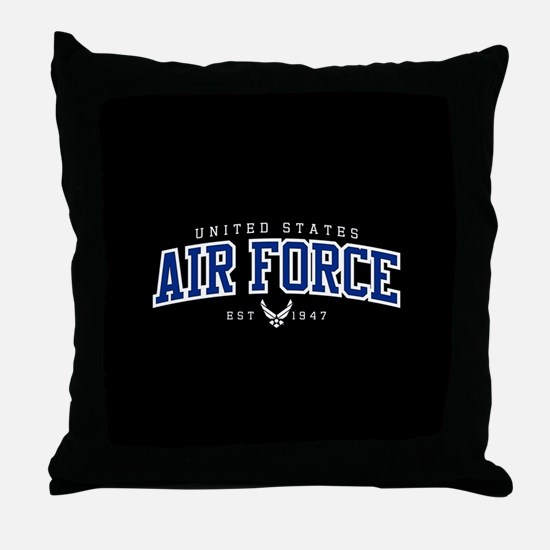 United States Air Force Athletic Throw Pillow