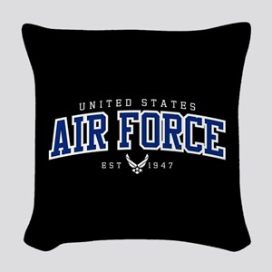 United States Air Force Athlet Woven Throw Pillow