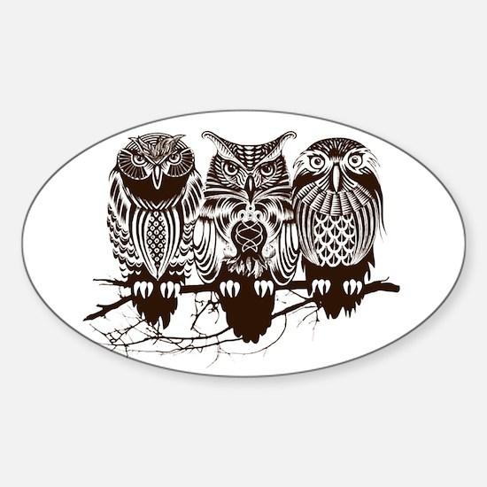 Three Owl Decal
