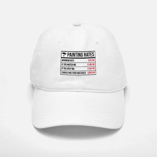 Funny Painting Rates Baseball Baseball Cap