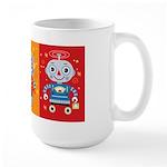 Robot Trio Large Mug