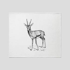 Gazelle Throw Blanket