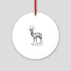 Gazelle Round Ornament