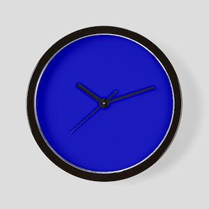 Solid Cobalt Blue Color Wall Clock