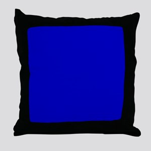 Solid Cobalt Blue Color Throw Pillow