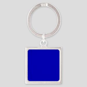 Solid Cobalt Blue Color Keychains