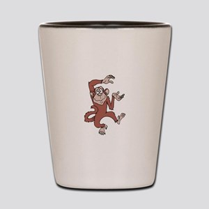 Monkey Excited Shot Glass