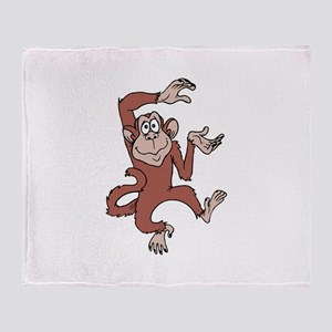 Monkey Excited Throw Blanket
