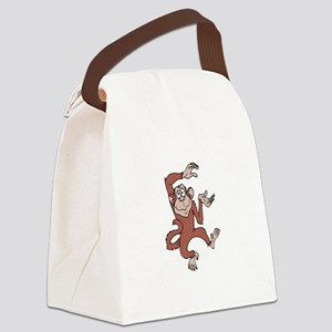 Monkey Excited Canvas Lunch Bag
