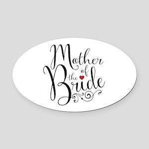 Mother of Bride Oval Car Magnet