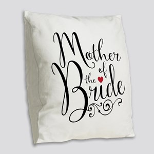 Mother of Bride Burlap Throw Pillow