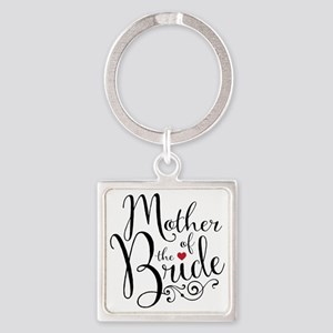 Mother of Bride Square Keychain
