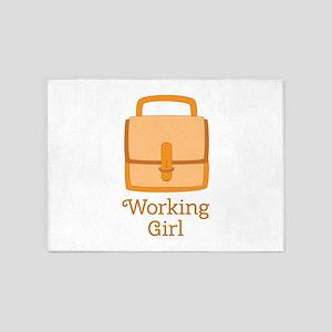 Working Girl 5'x7'Area Rug