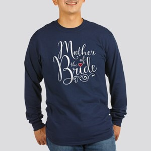 Mother of Bride Long Sleeve Dark T-Shirt