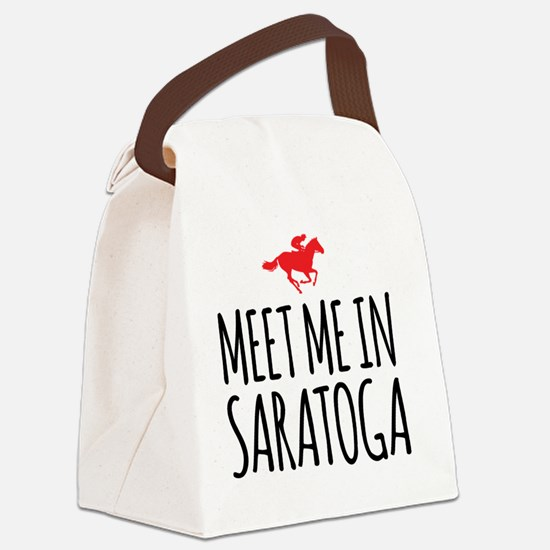 Meet Me in Saratoga Canvas Lunch Bag