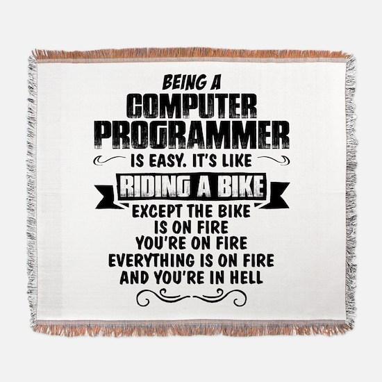 Being A Computer Programmer.... Woven Blanket