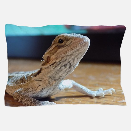 Funny Bearded dragon Pillow Case