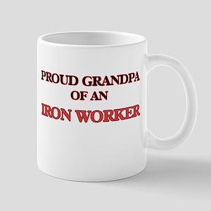 Proud Grandpa of a Iron Worker Mugs