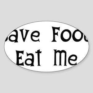 Save Food Oval Sticker