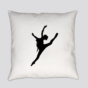 Silhouette of gymnastic girl Everyday Pillow