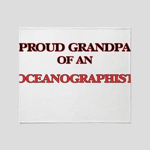 Proud Grandpa of a Oceanographist Throw Blanket