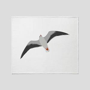 Sea gull seagull Throw Blanket