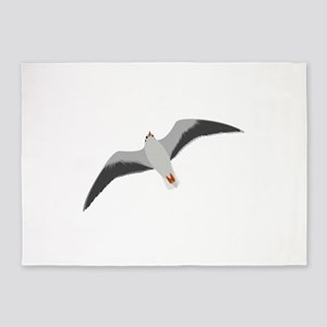 Sea gull seagull 5'x7'Area Rug