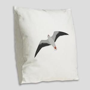 Sea gull seagull Burlap Throw Pillow
