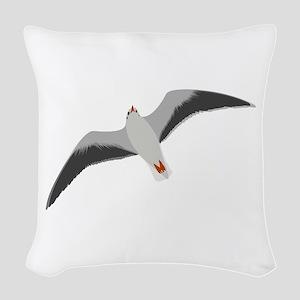 Sea gull seagull Woven Throw Pillow