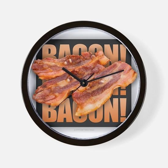 Bacon Bacon Bacon Wall Clock