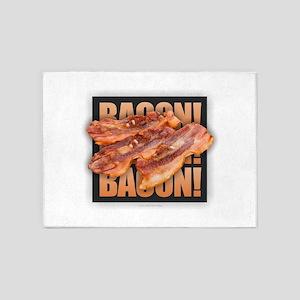 Bacon Bacon Bacon 5'x7'Area Rug