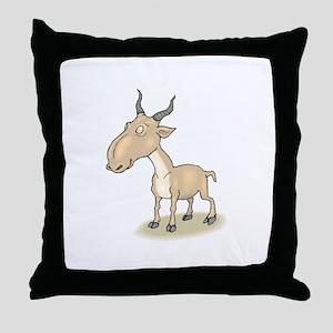 Gnu cartoon Throw Pillow