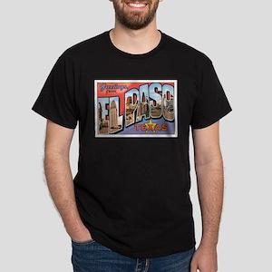 El Paso TX Postcard Dark T-Shirt