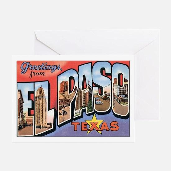 El Paso TX Postcard Greeting Card