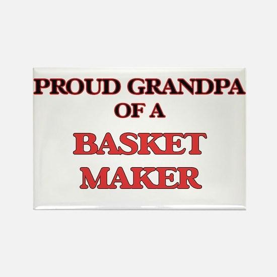 Proud Grandpa of a Basket Maker Magnets