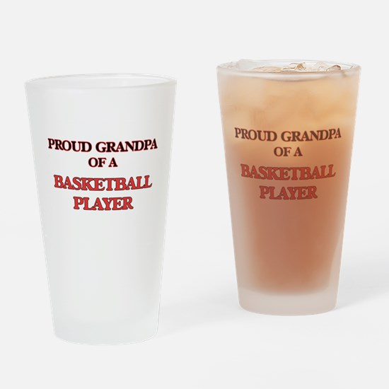 Proud Grandpa of a Basketball Playe Drinking Glass