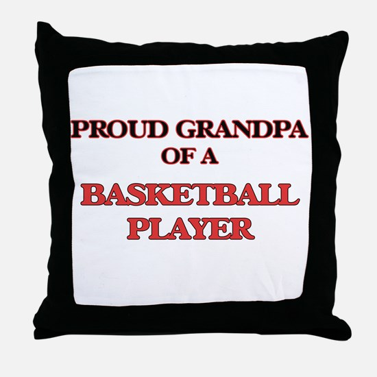 Proud Grandpa of a Basketball Player Throw Pillow