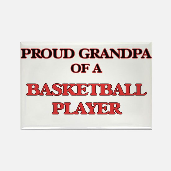 Proud Grandpa of a Basketball Player Magnets