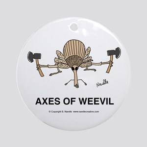 Axes of Weevil Ornament