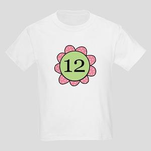 Twelve Years Pink/Green Flower Kids Light T-Shirt