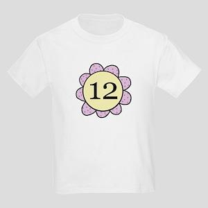 Twelve Purple/yellow flower Kids Light T-Shirt