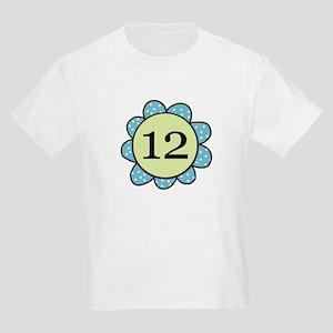 Twelve Years blue/green flower Kids Light T-Shirt